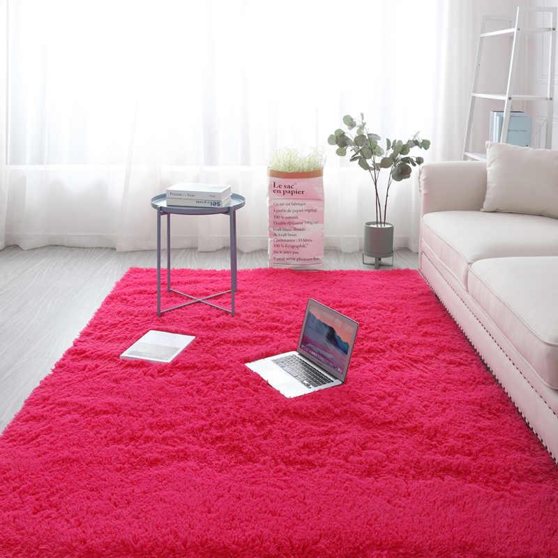tapis de salon nordique ins tatami de chambre a coucher peluche epais decoration de balcon baie vitree sol ete nouveau