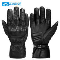 INBIKE Winter Motorrad Handschuhe Ziege Haut Leder Winddicht Männer Radfahren MTB Fahrrad Motorrad Schutz Gears Motocross Handschuhe