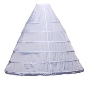 Image 1 - Womens Full Length Witte Hoepelrok Petticoat A lijn 6 Hoops Rok Slips Lange Onderrok voor Wedding Dress Bridal Baljurk