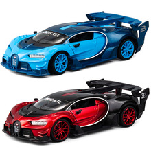 1:24 Diecast Toy Car Model Metal Wheels Bugattis GT Sports Simulation Pull Back Collection Kids Boys Toys Christmas Gift