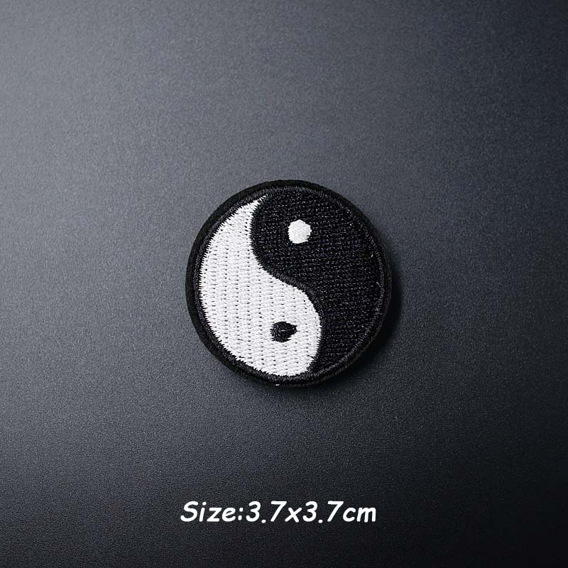 Черно-белая ткань для экспрессии Mend украшает утюжок на патч одежда шитье украшения аппликация вышивать на пачках для одежды - Цвет: AA