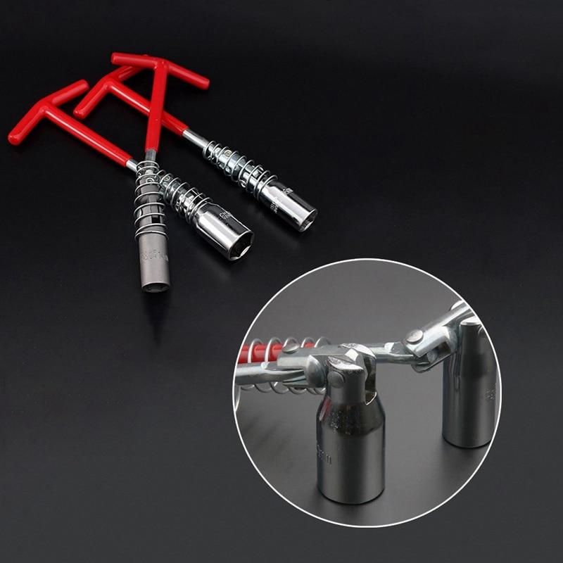 1 Pcs Flexible Spark Plug Removal Tool Socket Wrench Installation Head T-Bar