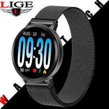 LIGE Smart Bracelet Women Silver strap Fitness Watch Blood Pressure Heart Rate Monitor Pedometer Smart Watch Men For Android iOS все цены
