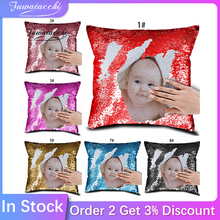 Cushion-Cover Pillow-Case Your-Image Customized Throw Home-Decor Fuwatacchi Friends Sequin