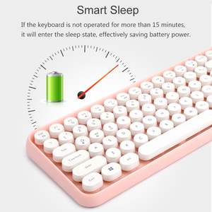 Image 3 - Wireless Bluetooth Keyboard Mini Round Button Gaming Keyboard For Macbook PC Gamer Laptop iPad Tablet Computer Andorid Keyboard