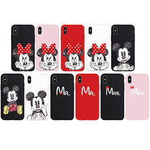 Minnie Mickey Mouse Case Simple Word Soft TPU Silicone Phone Cover Case for iPhone 6 6s Plus 7 Plus 8 Plus X 5s SE Coque Shell(China)