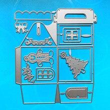 Yinise scrapbook metal corte dados para scrapbooking estênceis caixa de natal saco diy papel álbum cartões fazendo gravação cortar