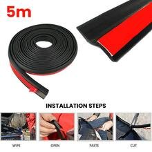 5M U Type Car Strips Sealing Scratch Protector Moulding Strip Protection Anti-rub Door Edge Rubber Strip DIY Car-styling CSV 5m car door edge guard scratch strip anti collision rubber sealing trim bumper protection sticker strip car styling strip