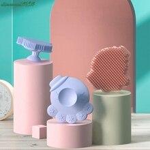 1Pcs Baby Shower Brush Creative Sunflower Shape Baby Bath Brushes Multifunctional Silicone Baby Shampoo Massage Brush Hair Wash