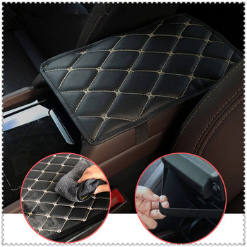 Car Armrest Mat Mats Cushion Cover Pad for Toyota FJ Cruiser RAV4 CROWN REIZ PRIUS COROLLA VIOS LAND CRUISER PRADO Tacoma image
