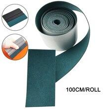 EHDIS 100 سنتيمتر لا خدش الجلد المدبوغ النسيج حافة ل شريط الياف الكربون ممسحة الفينيل سيارة التفاف السيارات نافذة تينت مكشطة واقية القماش