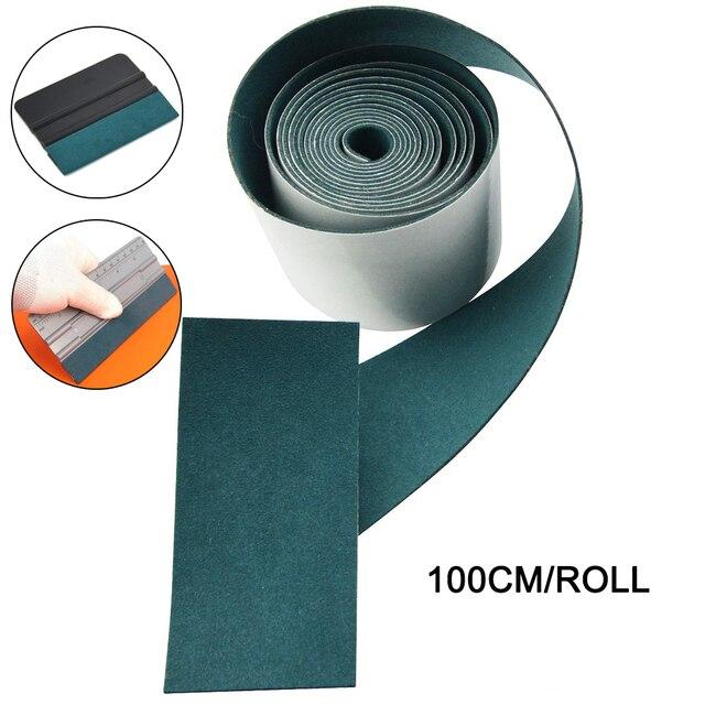 EHDIS 100CM bez zarysowań tkanina zamszowa krawędź na folia z włókna węglowego ściągaczka winylowa naklejka na samochód Auto folia zaciemniająca okna skrobak ochronny
