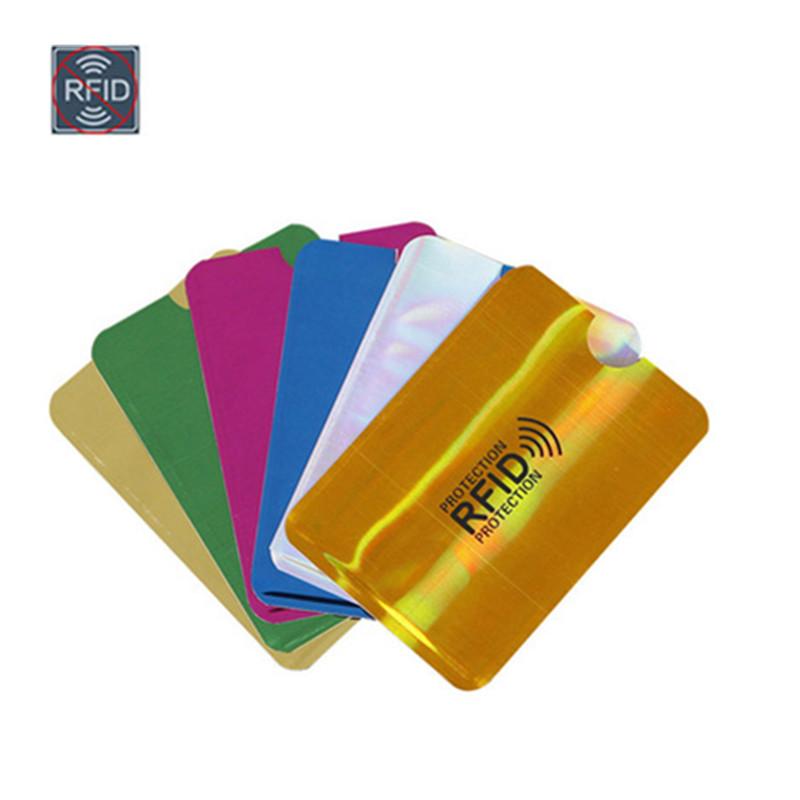 New Anti Rfid Bank Card Holder Metal NFC Blocking Reader Lock ID Credit Card Bag Men Women Laser Aluminium Card Case Protect