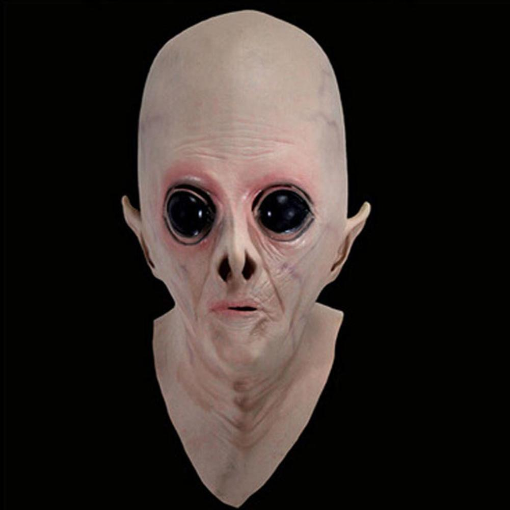 Halloween Scary Disgusting Vinyl  Face Mask Big Eyes Alien  Ufo Extra Terrestrial Party Masks For Costume Party Cosplay Props