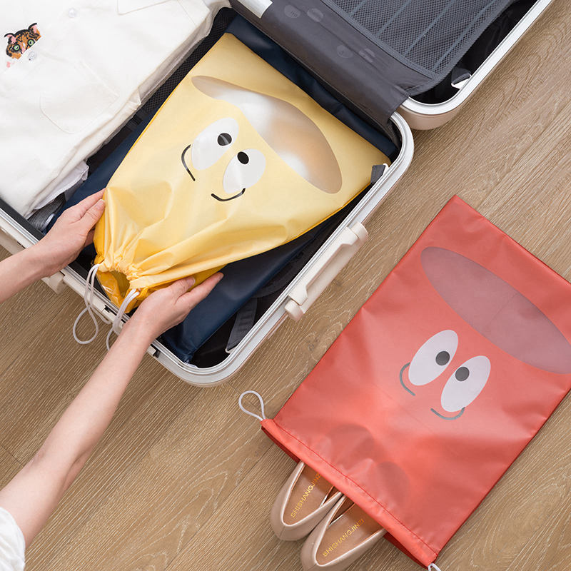 Cartoon Eye Shoe Bags Multifunction Portable Storage Package Parts Suitcase Cleaning Unisex Holder Pouch Travel Accessories