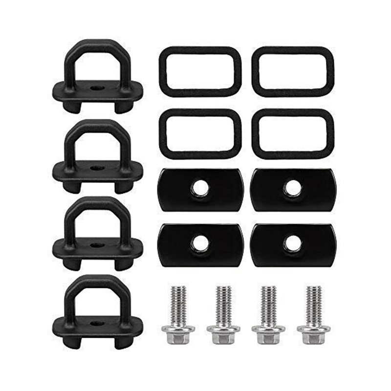 For Chevy Anchor Truck Bed 4Pcs Set Tie Downs Anchor Fits 07-18 Gmc Sierra Cargo, 15-18 Chevy Colorado And Gmc Canyon Model Truc