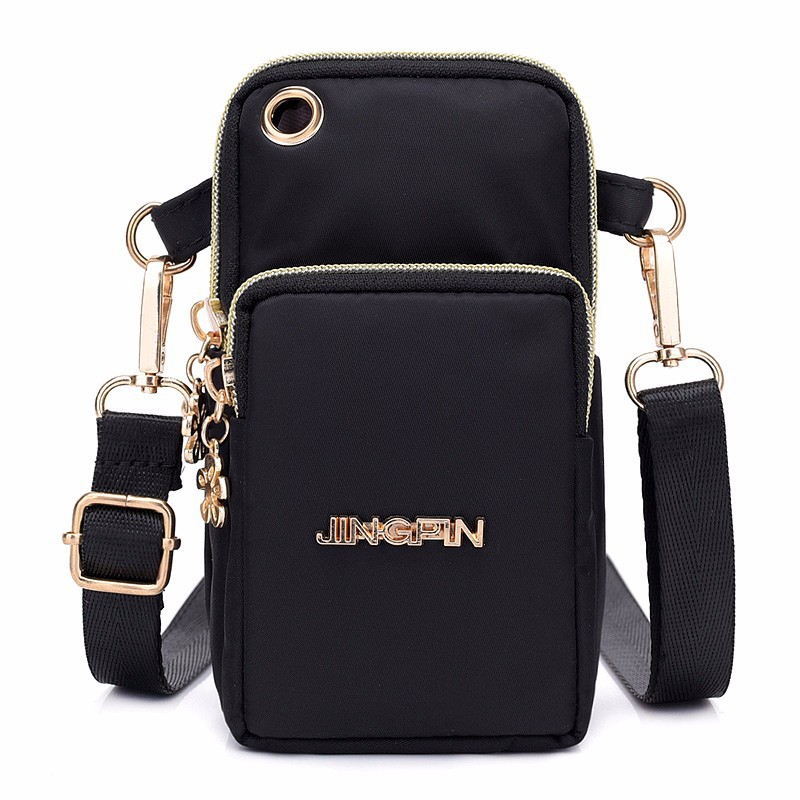 Creative Pop New Mobile Phone Bag Female Messenger Bag Women And Men' Hanging Neck Mobile Phone Bag Change Pocket Mini Bag