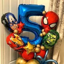 5pcs MARVEL Super Hero Balloon Spiderman Aluminum Foil Balloons Kids Birthday Party Decoration Baby Shower Iron Man Balloons