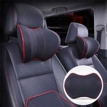 Cojín de masaje de descanso del cuello para la cabeza del asiento del coche, reposacabezas de cuello con memoria espacial, almohada para vehículo, accesorios para reposacabezas del asiento
