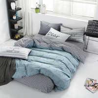 Juego de cama de satén de 100% algodón juego de edredón juego de cama funda de edredón individual/doble/reina tamaño acolchado