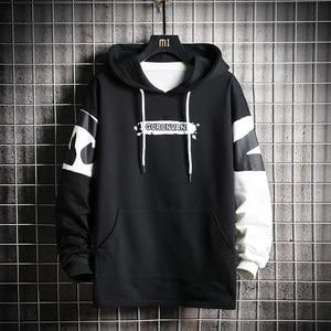 Image 2 - SingleRoad Mens Hoodies Men 2020 Oversized Patchwork Graffiti Harajuku Japanese Streetwear Hip Hop Black Sweatshirt Hoodie Men