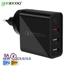 Goojodoq PD 48W USB Loại C Tường Quick Charge 3.0 Sạc Nhanh Cho Apple MacBook Air iPad Pro iPhone Samsung Huawei HTC