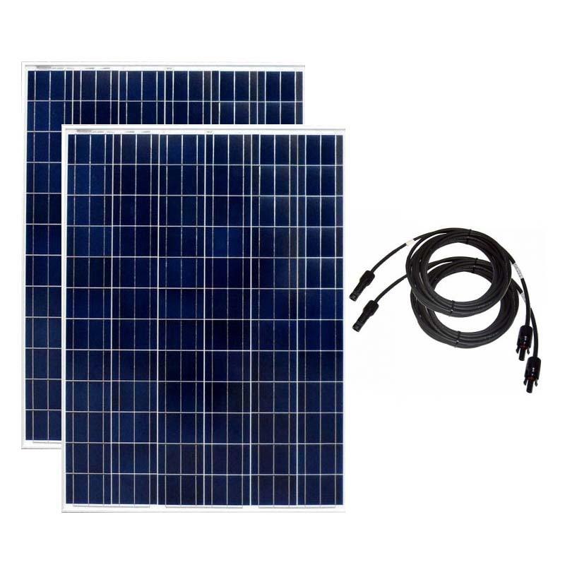 Panneau solaire 200w 24v 2 pièces panneaux solaires 400w PV câble 10M batterie solaire hors réseau camping-cars caravane camping-Car bateau Yacht