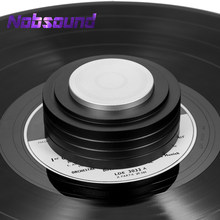 Nobsound Pure Aluminum Alloy Turntable Record Weight / Clamp LP Disc Stabilizer for Home Record Player Vibration Reducer(China)