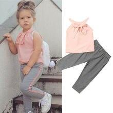 Emmamaby bebé niña ropa niño niños trajes sin mangas camisa Top pantalones largos Conjunto 2 piezas