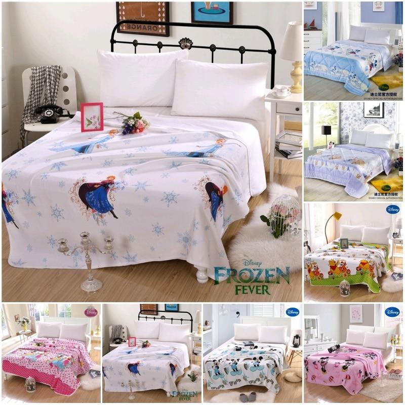 Disney Frozen Elsa Princess Cute Kids Summer Quilt 200x230CM Air Condition Blanket Comforter for Children Gift Bed