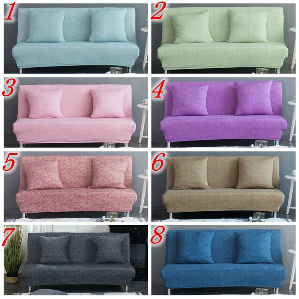 Linen Stretch Sofa Cover Foldable Large Elastic Sofa Cover Without Armrest Sofa Foldable Sofa Bed Cover