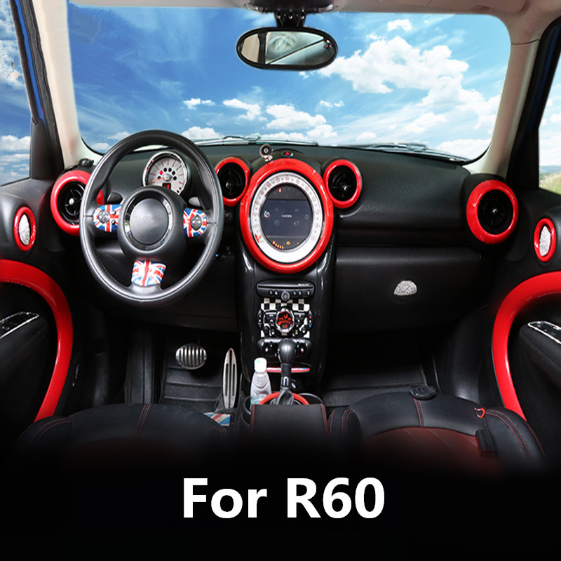 Red Car Interior Mouldings Door Handle Panel Cover Outlet Moulding Trim For Mini Countryman R60 2011 2012 2013 2014 2015 2016