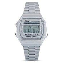 QW Sports 0 Tax Stainless Steel Ladies Waterproof Mens Women Montre Sport Custom Digital Deportivos Relojes De Mujer Watch