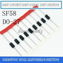 10PCS SF 58 5A 1000V super fast recovery diode SF58 direct plug in spot DO 27