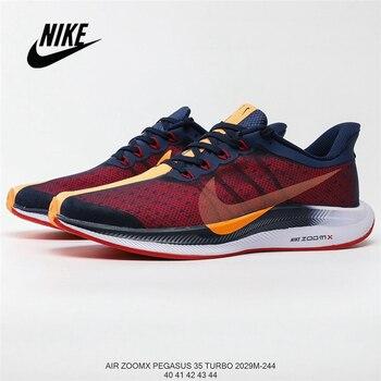 Orijinal Nike Zoom Pegasus 35 Turbo Pegasus Teknoloji Koşu Ayakkabıları Erkek Boyutu 36-45 ücretsiz Kargo