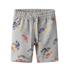 Lucashy Fashion Western Style Baby Boys Shorts Summer Cotton Children Short Pants Cartoon Car Print Pants Clothings Kids Outfit
