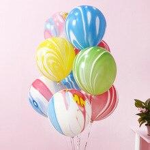 Kammizad 5pcs/lot black Agate Balloon Pink latex Ballon Happy Birthday globos Baby Shower wedding Decoration Kids Party Supplies
