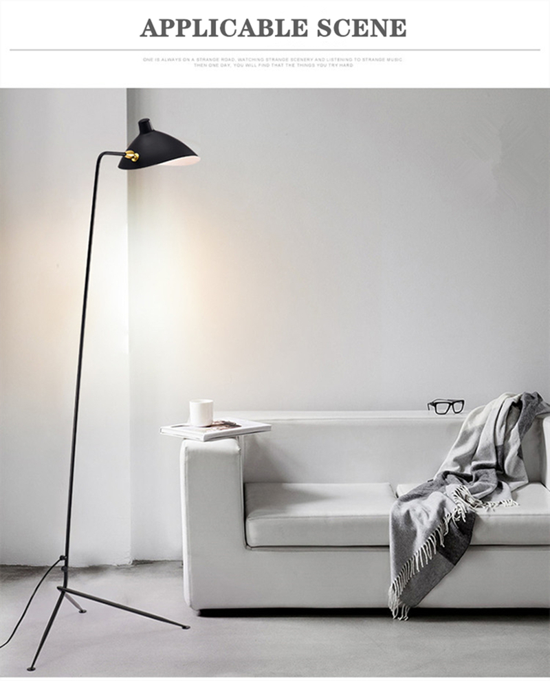 Adjustable Spider Arms Tripod Floor Lamp For Living room