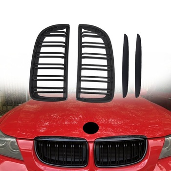 Car Front Kidney Grilles Gloss Matte Black Car Left Right Grille Replacement For BMW E90 2005 2006 2007 2008 Car Exterior Parts image