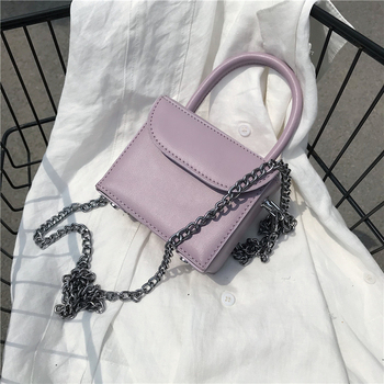 MINI Box Design PU Leather Crossbody Bags For Women 2020 New Summer Shoulder Hand Bag Travel Chain Handbags Solid Color