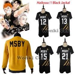 Haikyuu MSBY Black Jackal Cosplay Costume Hinata Shoyo Kiyoomi Sakusa Kotaro Bokuto Atsumu Miya Jersey Coat Jacket Sport Suits