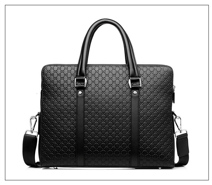 H05e561c6e655452194701ea65218d47f9 New Double Layers Men's Leather Business Briefcase Casual Man Shoulder Bag Messenger Bag Male Laptops Handbags Men Travel Bags