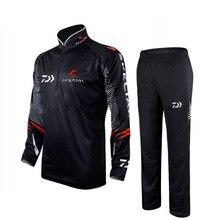 Daiwa-Conjuntos de ropa de Pesca transpirable Upf 50 + para hombre, camisa de pesca con cuello alto, protección solar, verano al aire libre, 2020