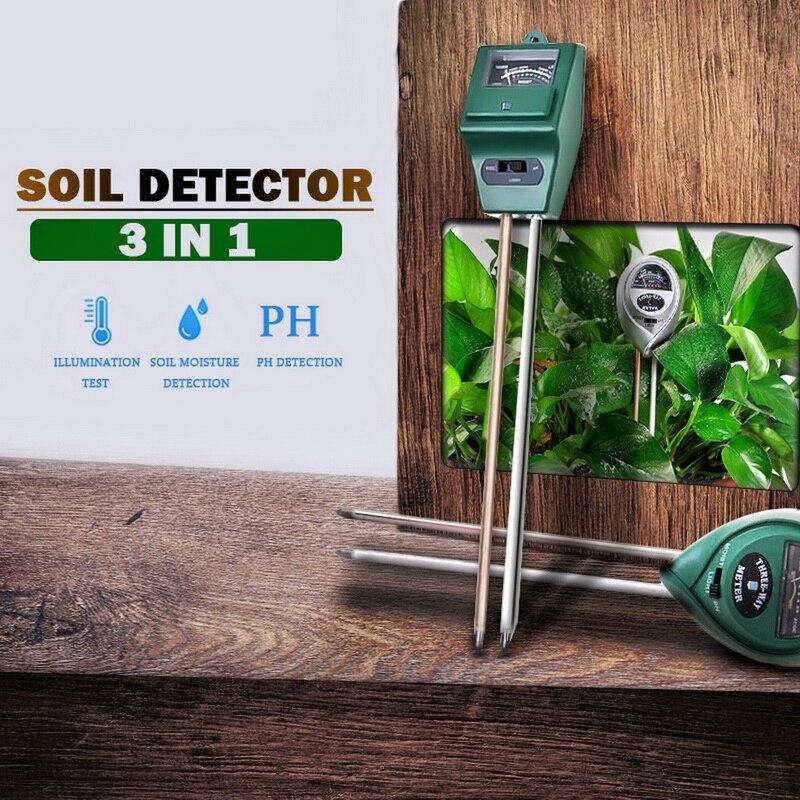 3 в 1 Цифровой измеритель PH влажности почвы и солнечного света для растений, измерение кислотности цветов и влажности, садовые инструменты, грунтовая вода|Приборы для измерения уровня|   | АлиЭкспресс