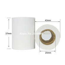 4 Rolls lot 57mm Thermal Paper POS Receipt Roll Thermal Printer Cash Register Ticket Roll 57*43mm Thermal Roll Paper cheap yournanny 110V 220V PL-58 45g roll