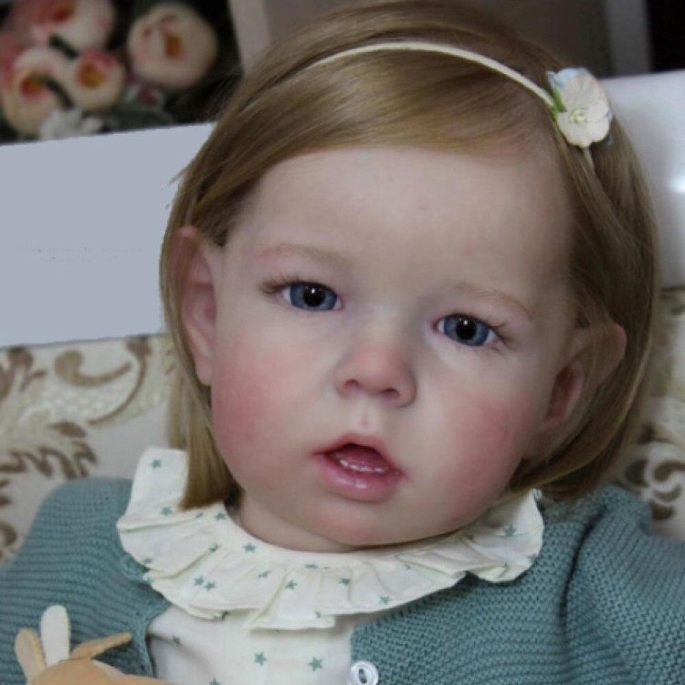 Rbg reborn boneca do bebê 20 polegadas lifelike bonito liam vinil unpainted inacabado peça kit em branco diy para a menina brinquedos presente do ano novo