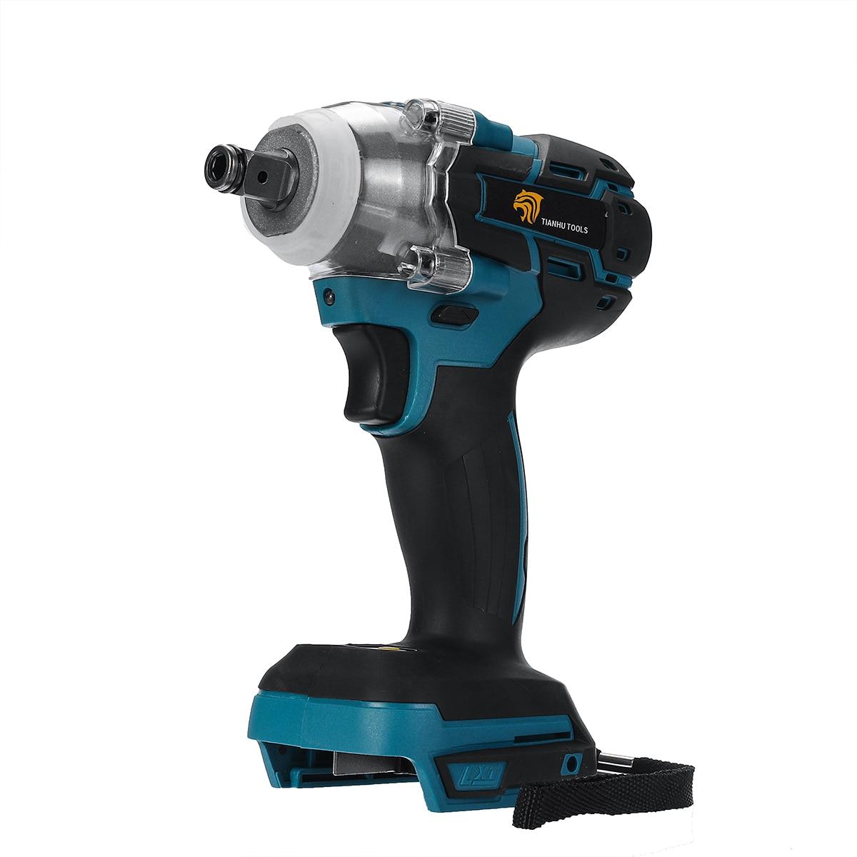 18V 520Nm eléctrico recargable sin escobillas Llave de impacto inalámbrico 1/2 llave de enchufe herramienta eléctrica para batería Makita DTW285Z