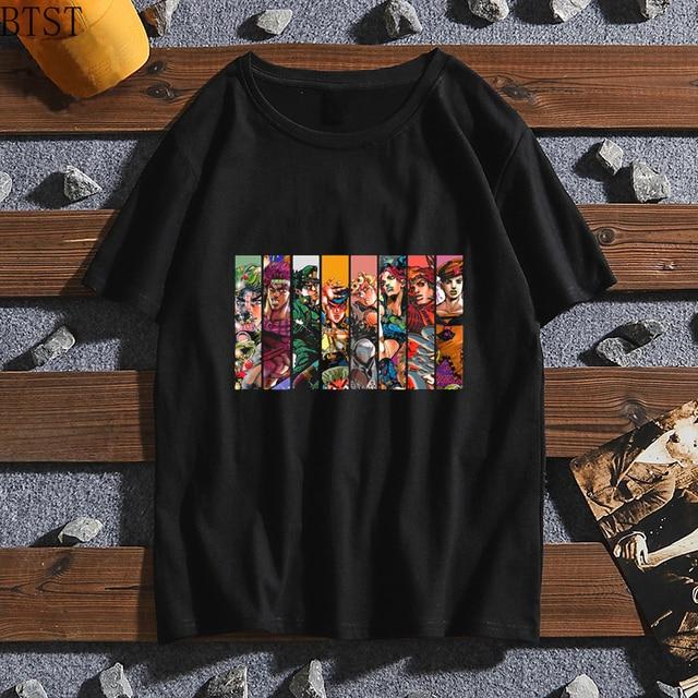 T-shirt Cool JoJo Bizarre Adventure Graphic Print Tee Homme Japanese Anime Style Tshirt oversized tee Cotton Soft T-Shirt Men 3