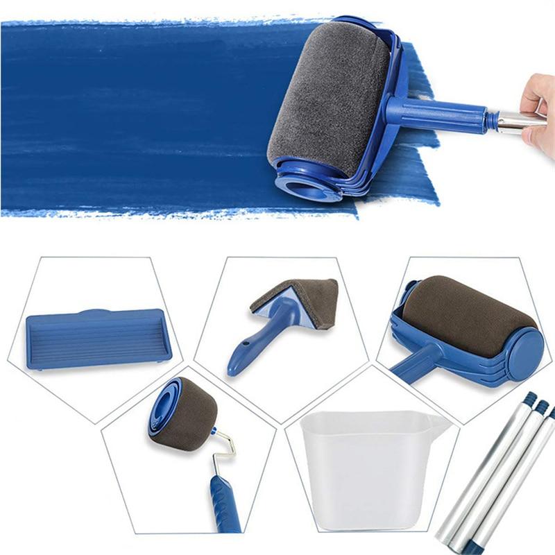 5 6 7 pcs Painting Roller Brush Set Household Wall Decorate Brush DIY Paint Tools Multifunctional Rolling Runner Tools Set