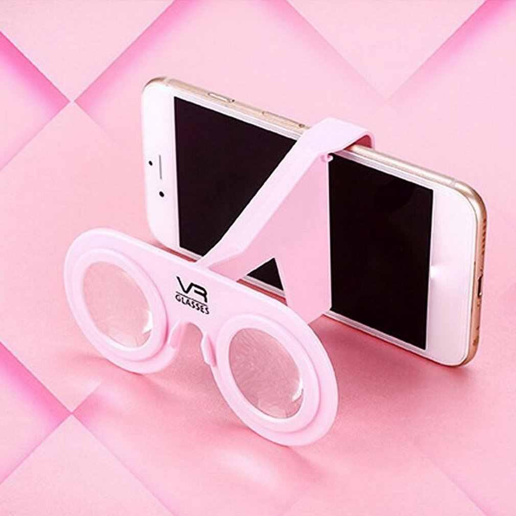 VR okulary składany Mini gogle z HD obiektyw kompatybilny z systemem Android i iOS smartfonów w 3.5 do 6 cali